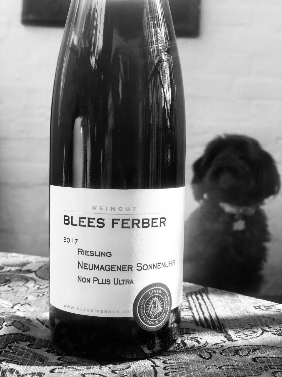 """""""Fornuftige storebror"""": Toppen af poppen grundet vin beliggenhed. Tysklands svar på Crand Cru – hvidvin Riesling Neumagener Sonnenuhr Non Plus Ultra, fra Blees Ferber, Tyskland"""